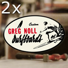 2x Stück Greg Noll Surfboards Sticker Aufkleber Surf Surfing Skate Autocollante