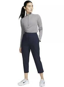 Nike Flex UV Victory Women's Medium Navy Blue Dri Fit Golf 3/4 Pants NWT BV0178