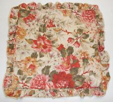 "Rare Ralph Lauren Post Road Constance Floral Throw Pillow Cover Lace Linen 20"""