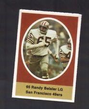 1972 SUNOCO STAMP RANDY BEISLER SAN FRANCISCO 49ERS