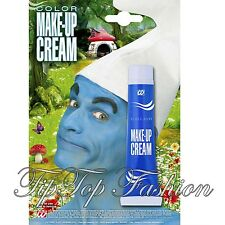 New Blue Cream Face & Body Paint 28ml Fancy Dress Party Make Up Accessory