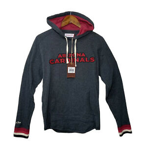 Mitchell & Ness Arizona Cardinals Sz Small Lightweight Pullover Hoodie Gray NWT