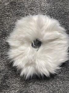 White Fluffy Tree Skirt 12x12 Inch