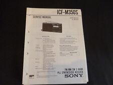 Original Service Manual Sony ICF-M350L