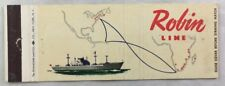Vintage Matchbook Robin Ship Line Advertising Home Office New York