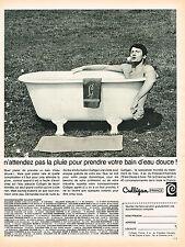 PUBLICITE ADVERTISING 104  1966  CULLIGAN  adoucisseur d'eau
