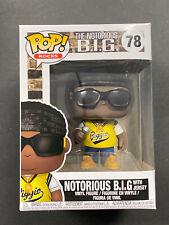 Notorious B.I.G. Funko Pop Rocks 78: Yellow Jersey Vinyl Big 78 New - Biggie
