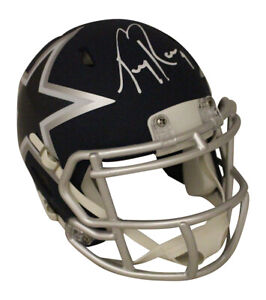 Tony Romo Autographed/Signed Dallas Cowboys AMP Mini Helmet BAS 29854