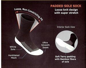 Orthofeet Diabetic Bamboo Fiber Padded Sole Socks- Package of 3 pairs