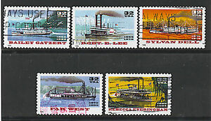 Scott #3091-95 Used Set of 5, Riverboats