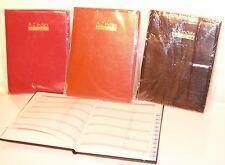 Executive Address Book And Telephone Book Burgundy leather 21cmx16cm