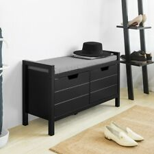 SoBuy Shoe cabinet Bench with seat Shoe chest with storage space,FSR63-SCH,UK