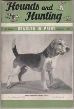 HOUNDS AND HUNTING Magazine January 1951, Beagles & Beagling H&H