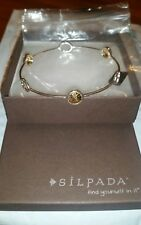 SILPADA BRACELET BANGLE  B2475 2 TONE NIB Retired