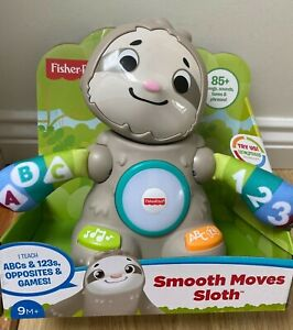 Fisher-Price Linkimals Smooth Moves Sloth Baby Toy music songs New
