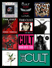 "THE CULT album discography magnet (4.5"" x 3.5"") guns n roses the cure billy idol"