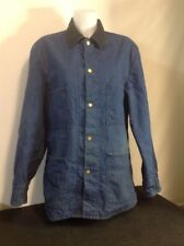 Vintage CARTER'S INDIGO DENIM Jeans Shore Work Railroad Jacket 44-46