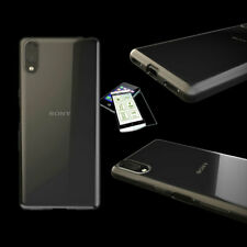 TPU Silikon Tasche Transparent + Hartglas H9 für Sony Xperia L3 Hülle Etuis Neu