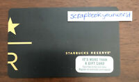 2017 Starbucks Card RESERVE Gift Card Mint WAS ONLY IN RESERVE STORES