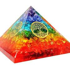 Orgonit Pyramide - Regenbogen Bergkristall Lebensbaum Agnihotra 364
