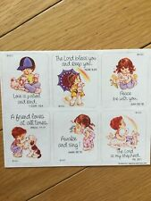 Vintage 1984 American Greetings Children Religious Sticker Sheet