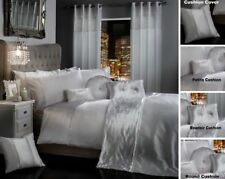 BLING CRUSHED VELVET Duvet Quilt Cover Bedding Set WHITE SILVER GREY BLACK