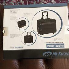 """Mcklein Wheeled 17"""" Laptop Case"""
