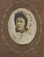 Vintage 1870's CDV Photo Pretty Girl Woman Wearing Ruffled Bonnet Embroidery 👒
