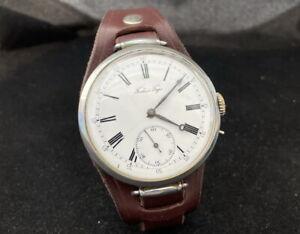 Pavel Bure Russia Empire Antique 1917-1918 Swiss Beautiful Men's Rare Wristwatch