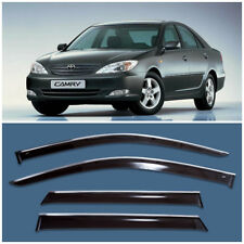 Chrome Trim Window Visors Guard Vent Deflectors For Toyota Camry XV30 2002-2005