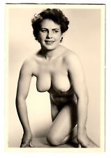 #742 ROESSLER AKTFOTO / NUDE WOMAN STUDY * Vintage 1950s Studio Photo - no PC !