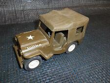 "Old Vtg TONKA JEEP Commander Army Toy Vehicle 6 1/2"" Long Military"
