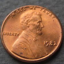">ERROR COIN, 1982 LINCOLN CENT, ""SPLATTERED"" Grease Struck, DOUBLE DIE ERRORS #7"