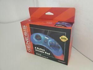 NEW Official Blue Sega Retro-Bit Arcade Pad 10 FT Cord for Mega Drive  Q4
