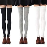 1 Lot de 3 Paires de Chaussettes Longues pour Femmes, Couleur Unie, Cuissard Q2V