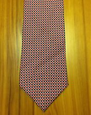 Brooks Brothers Makers Classic Red & Blue Check Tie - Squares Diamonds EUC