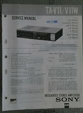 Sony ta v11 w Service Manual schematic stereo amplifier amp Original repair book