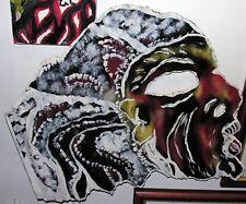 Calvin Livingston  FOLK ART  painting  on METAL outsider  artist
