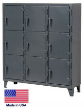 PERSONNEL - PERSONAL LOCKER Coml / Industrial - 9 Lockers - 68 H x 18 D x 62 W