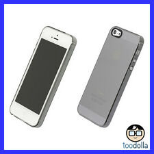 POWER SUPPORT Air Jacket Case and Screen Films, iPhone 5/5s/SE, Clear/Black