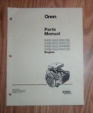 ONAN B43E-GA016/4369B  ENGINE PARTS LIST 965-0259