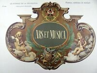 1896 ART NOUVEAU JUGENDSTIL Chromolithograph Poster - Art and Music