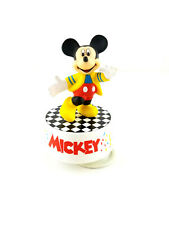 """Vintage Schmid Disney Mickey Mouse """"Shall We Dance"""" Rotating Music Box"""