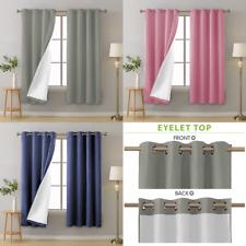 """Blackout Eyelet Curtain Pair - Blush,Grey, Denim 66""""X54"""" / 66""""X72"""""""