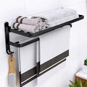 NEW OVER DOOR HANGING TOWEL RAIL BATHROOM SHOWER TOWEL HOLDER METAL CHROME RACK