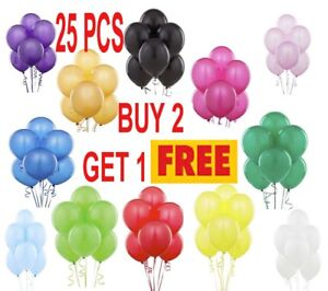 25 X LATEX PLAIN BALOONS BALLONS helium BALLOONS Quality Party Birthday Wedding