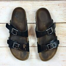 Birkenstock Papillio Womens Black Patent Leather Footbed Sandals 37/6