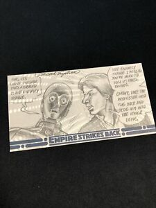 Topps Star Wars The Empire Strikes Back 3D Sketch Card 1/1 Brent Engstrom Comic