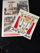 DECALS 1/18 PEUGEOT 206 WRC PANIZZI RALLYE MONTE CARLO 2001 RALLY TAMIYA