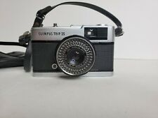 Olympus Trip 35 D.Zuiko 40mm. Tested Working. Leather case and original strap